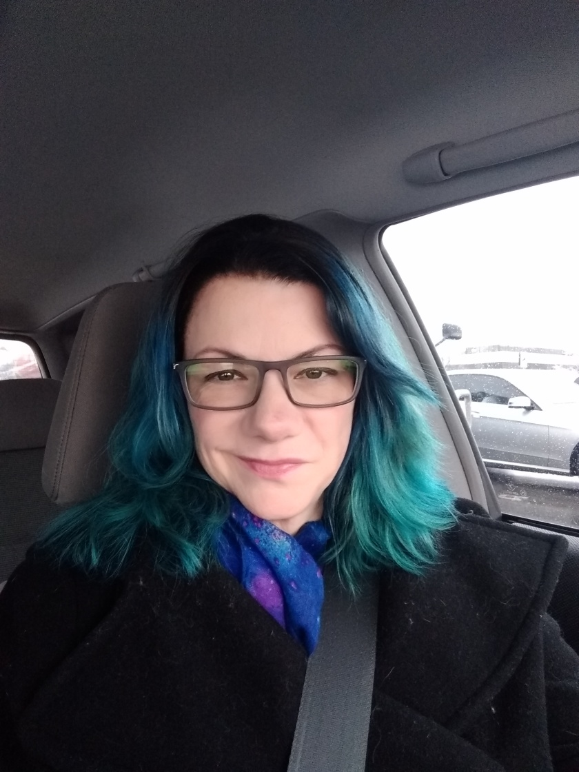 blue with glasses